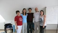 Dankó Ferencné, Milbik Szabina, Xi Xiaofeng mester, Dankó Ferenc, Dankó Babett, Debrecen, 2014. április